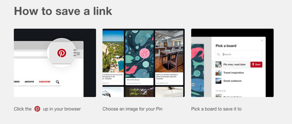 Pinterest browser button