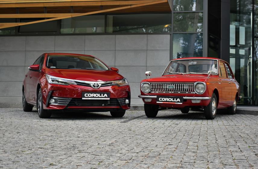 Evolution of the same car model