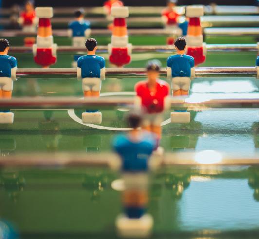 Photo of table football figurines