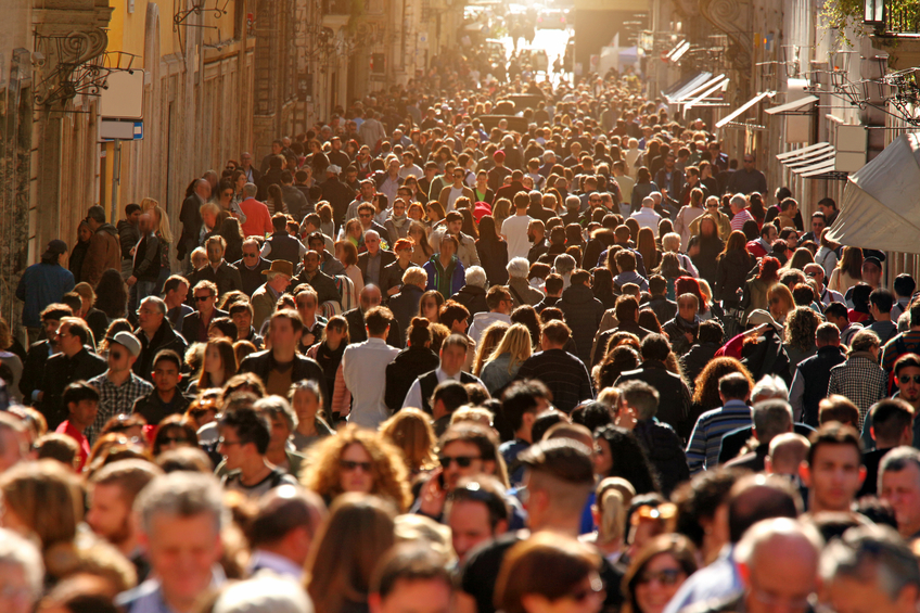 a social crowd