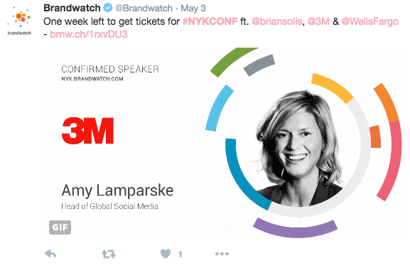 announcing speakers on twitter to promote the event