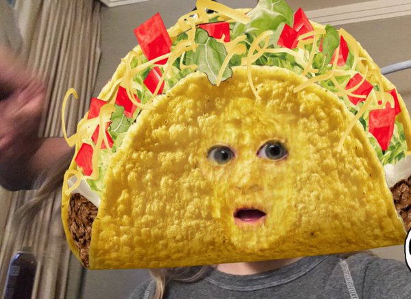 Taco Bell's snapchat marketing featured a sponsored lens