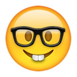 Image of the geek emoji