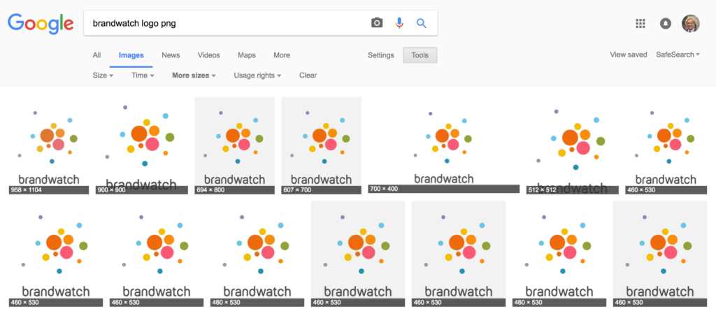 Google's image recognition tool