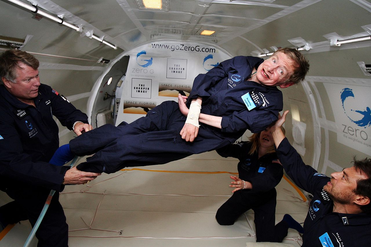 Stephen Hawkings in zero gravity