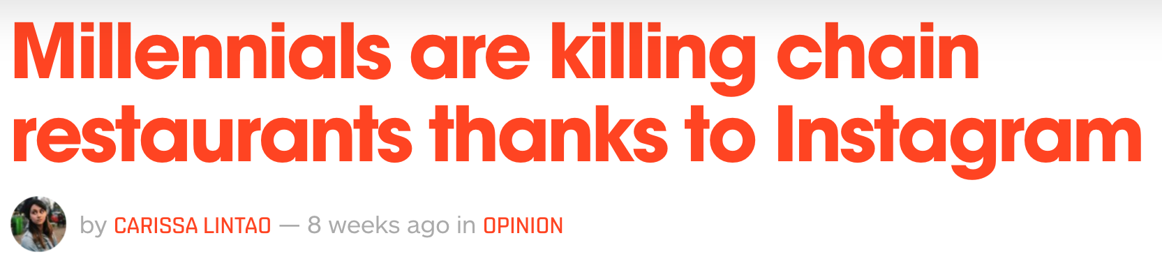 Things Millennials are killing