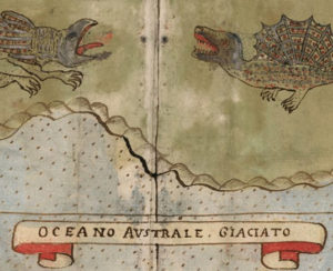 Small part of Urbano Monte's 1587 world map