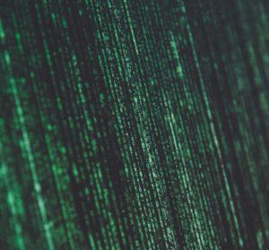 Green computer code on a black screen