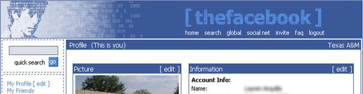 The original TheFacebook