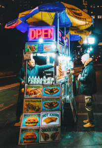 A street vendor in NYC