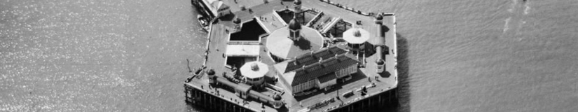 An aerial view of the old Margate pier