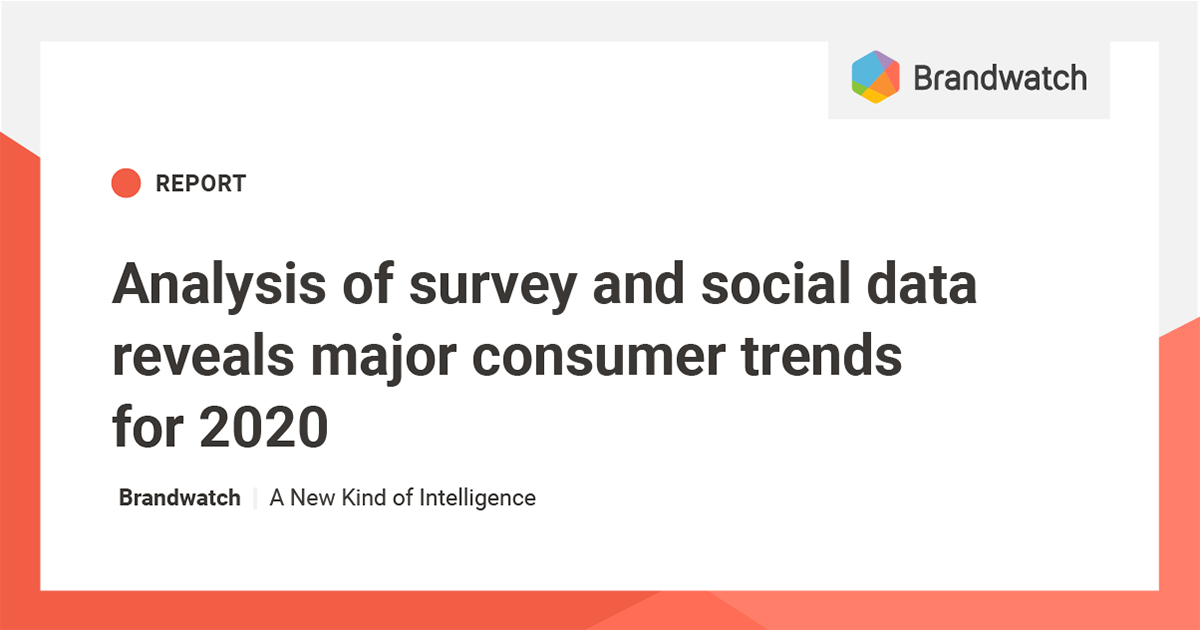 Social Trends 2020.Consumer Trends For 2020 Brandwatch